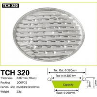 China With holes round BBQ grill plate aluminum foil cleaning plate for avoid fire & smoke BBQ helper TCH320 wholesale