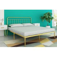 China Metal Platform Bed Frame /Bed, modern style iron bed with Headboard wholesale