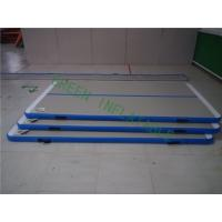 China Durable White Top Air Tumble Track Mats For Athlete 2 Years Warranty wholesale