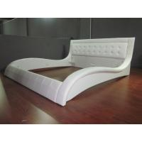 2016 whole sale modern good price PU leather bed made in white PU leather