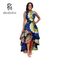China Sleeve Less Fashion Female Beautiful African Print Dresses Eco - Friendly All Over The World wholesale