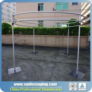 China Aluminum Portable quick Show pipe & drape Folding Booth mandap decoration on sale