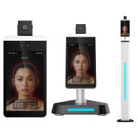Buy cheap Intelligent Non Contact Body Temperature Measurement Kiosks With Facial from wholesalers