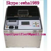 China User friendly On site insulating oil tester, meet IEC156, ASTM D 877,ASTM D 1816, Highly efficient on sale