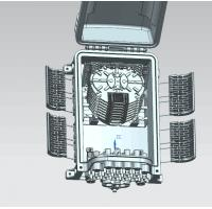Quality GFS-16Q-3,fiber distribution box,splitter box,Max Capacity 64F,,size 353*230 for sale