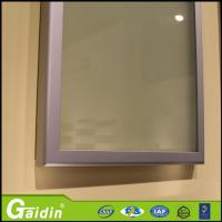 China anodized wooodgrain glass insert kitchen cabinet aluminum door frame on sale