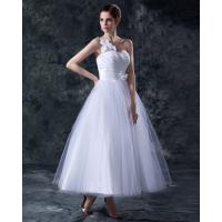 China Elegant Heart Shaped tea length wedding dresses gowns in S M L XL XXL size wholesale