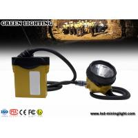 China 3.7V li-ion battery 25000lux rechargeable miners cap lights with cable indicator LED wholesale