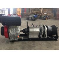 China Tower Erection Tools 5 Ton Speedy Diesel Engine Wire Rope Winch For Cable Pulling on sale