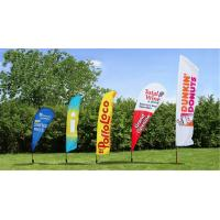 China Outside Flying Advertising Feather Flags Banner With Aluminum Pole Double Sided wholesale