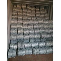 Wholesale Roll Galvanized Barbed Wire For Agriculture / Animal Husbandry 12.5x14.5 Gauge from china suppliers