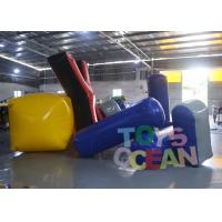 Quality Difference Shape Inflatable Paintball Bunkers Colorful Air Bunker Set For Sale for sale