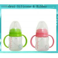 China Colorful  unbreakable silicone baby water bottle wholesale