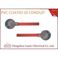 Orange PVC Coated BS4568 GI Electrical Conduits with 1.6mm Thickenss