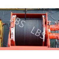 China Lebus Groove Offshore Tower Crane Winch Drum / Hydraulic Crane Winch wholesale