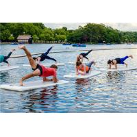 China Water Sports Floating Fitness Mat , Inflatable Water Mat High Performance wholesale