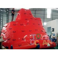 China Giant Outdoor Inflatable Water Game For Kids Summer Climbing Iceberg wholesale