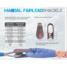 Buy cheap Mandal fairlead shackle,Marine mooring shackle, Marine mooring shackle for wire rope and fiber rope from wholesalers