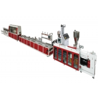 Quality JWELL Conical Twin Screw Extruder PVC WPC Profile Extrusion Machine Panel Making Machine for sale