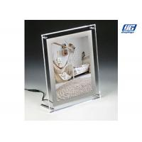 China Desk Top Crystal Frame Back Lit LED Graphic Holder for Small Poster 297 x 210mm wholesale