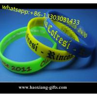 China Wholesale custom logo silicone rubber wristbands/bracelet,with your size wholesale