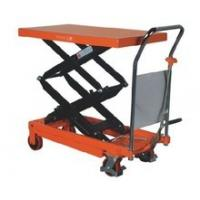 China Hydraulic Platform Scissor Lift Table Cart With Chrome Plated Handle wholesale