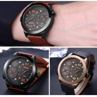 Quality Smael Men Genuine Leather Band Dual Time Waterproof 30m Casual Quartz Wrist Watch 1314 for sale