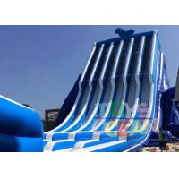 China Commercial Biggest Backyard Inflatable Water Slides With Climbing Wall 130ft wholesale