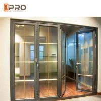 China Horizontal Aluminum Folding Doors For Kitchen With Double Tempered Glass wholesale
