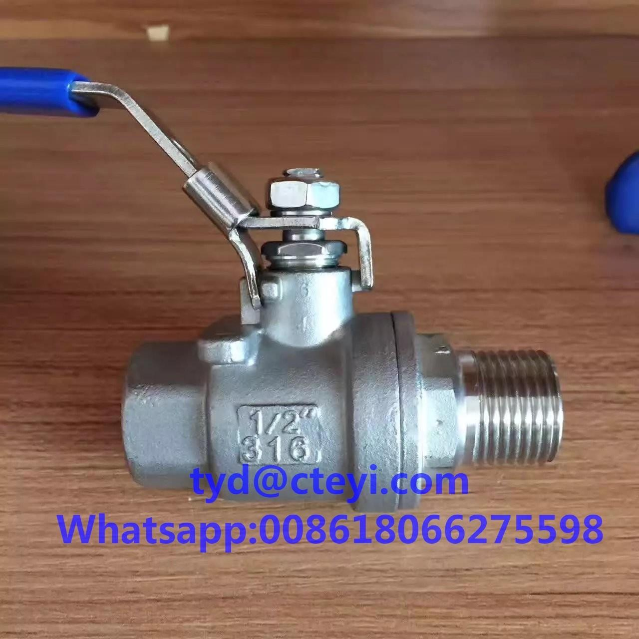 1000WOG 316 Stainless Steel Ball Valves , Full Port Male Female NPT Thread 2pc Ball Valve