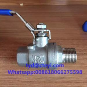 Quality 1000WOG 316 Stainless Steel Ball Valves , Full Port Male Female NPT Thread 2pc for sale
