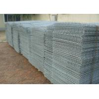China Green Powder Coated Stone Cage Wire Mesh Twill Weave 80*100 Size wholesale