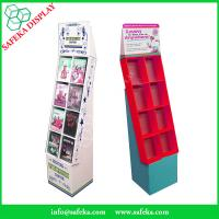 China Pop Cheap Custom printed Promotion Rack Supermarket advertising shelf Cardboard DVD CD display stand with pockets wholesale