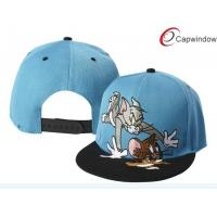 China Summer Cartoon Tom And Jerry Snapback Hat 100 Cotton Baseball Caps Blue / Purple wholesale