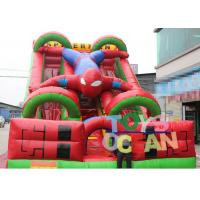 China Spiderman Inflatable Dry Slide Attractive Silk Printing Entertainment wholesale