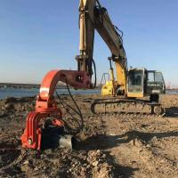 Buy cheap Multi-function Excavator Mounted Hydraulic Excavator steel Pile Driver/Vibratory from wholesalers