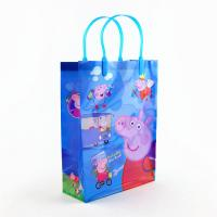 Buy cheap custom blue plastic tote bags price environment for sale wholesale manufacturer from wholesalers
