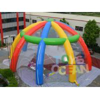 China Rainbow Giant Inflatable Spider Dome Tent Transparent PVC Event Party Marquee wholesale