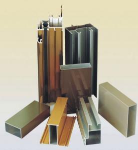 China Powder Coating Aluminium Door Profiles , Deep - Processing Aluminum Door Extrusions wholesale