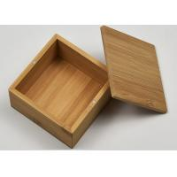 China Small Natural Storage Bamboo Gift Box With Custom Logo For Packaging wholesale