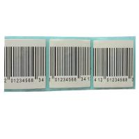 Quality 40mmx40mm EAS RF security alarm label 8.2MHz barcode white security label for sale