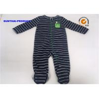 China Applique Embroidery Baby All In One Pram Suits Cap Snap Tab Crewneck Coverall wholesale
