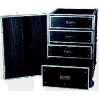 China Black 9mm Plywood / Rack Flight Case With Wheels For Audio And Keyboard wholesale