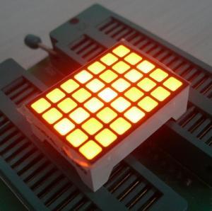 China Yellow 14 Pins Square LED Matrix Screen , 5x7 LED Matrix Waterproof wholesale