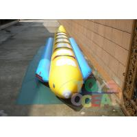 China 6 Person Outdoor Inflatable Water Toys Banana Boat Waterproof 0.9mm PVC wholesale