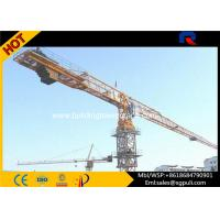 China 380V/50Hz Power Flat Top Crane , Top Slewing Crane 41M Freestanding Height PT5610 wholesale