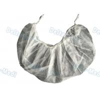 China Single / Double Elastic Disposable Surgical Caps , Non Woven White Surgical Beard Mask wholesale