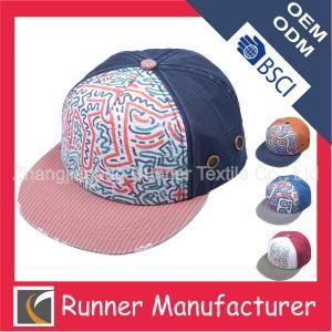 China Custom Cotton Printing Snapback Cap wholesale