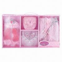 China Party Gift Set, Made of 100% Polyester, Comes in Pink wholesale