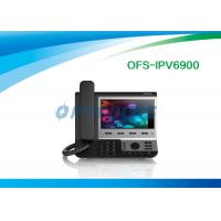 China Black 4 SIP Poe IP Video Phone Broadcom Wifi Chip for SysLog / Web Capture 0.99kg wholesale